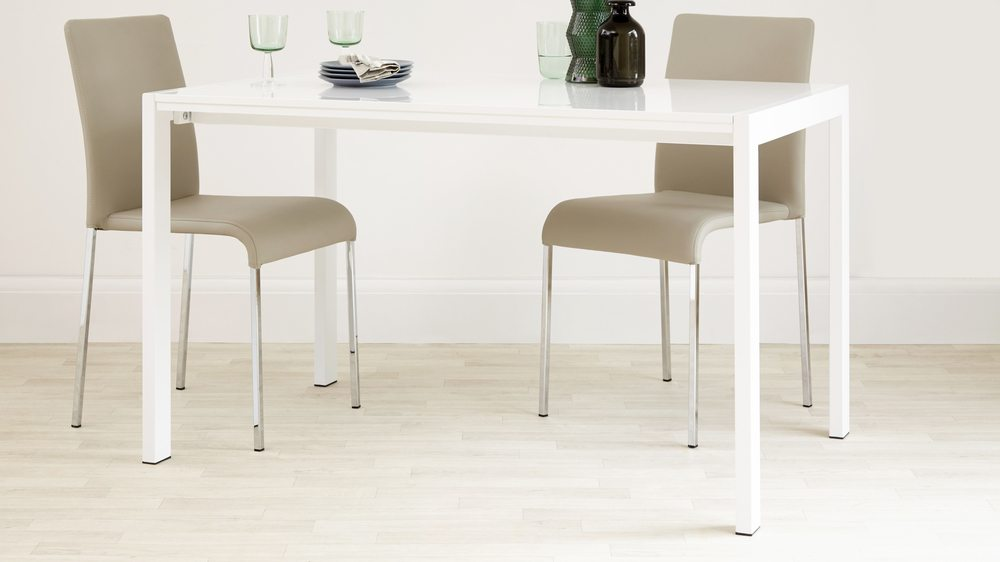 White Gloss Extending Table