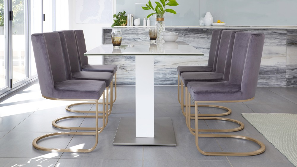 modern marble gloss table