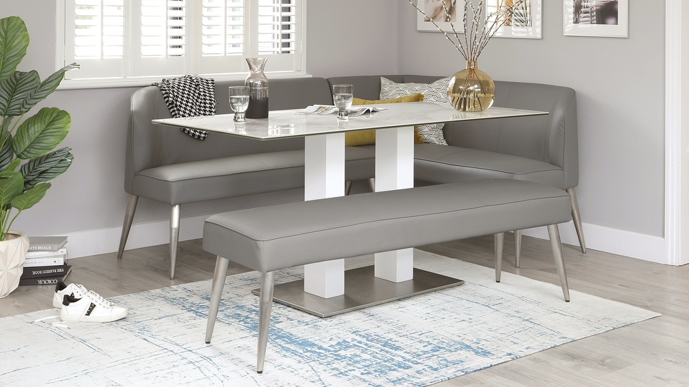 dining table and bench set