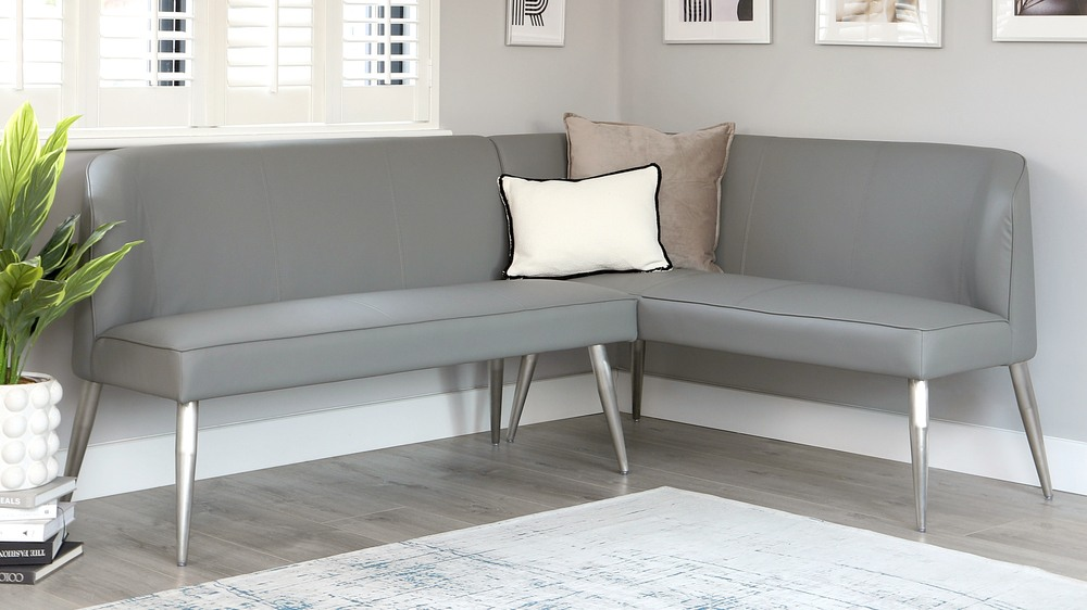 Mellow faux leather corner bench