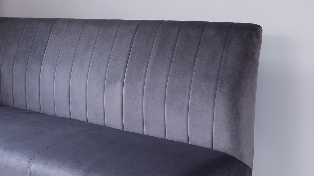 velvet benches with panels