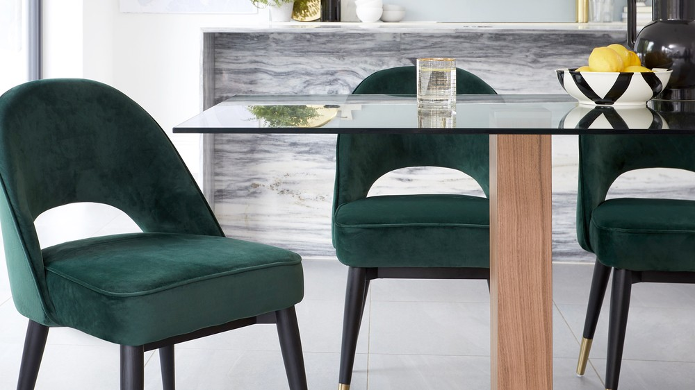 wooden and glass tables