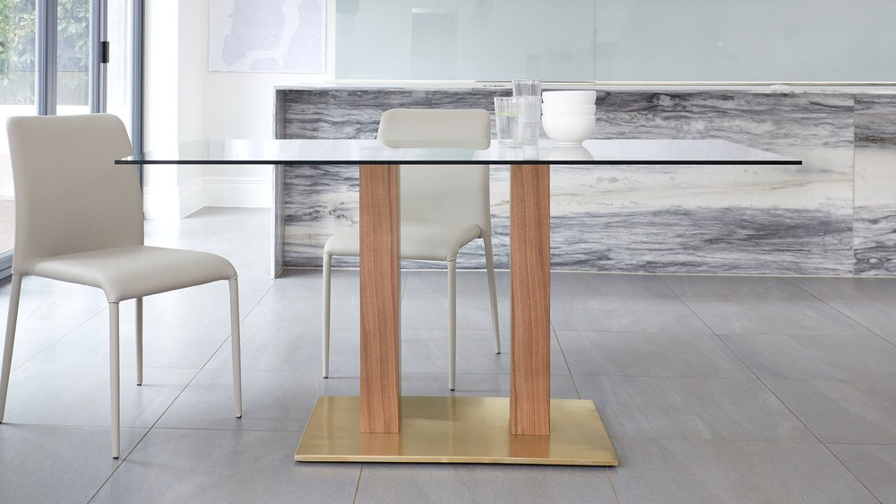 brass based dining tables