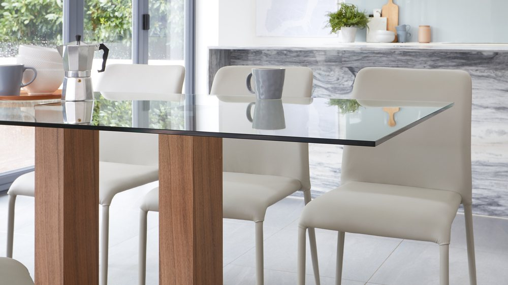 glass table dining sets