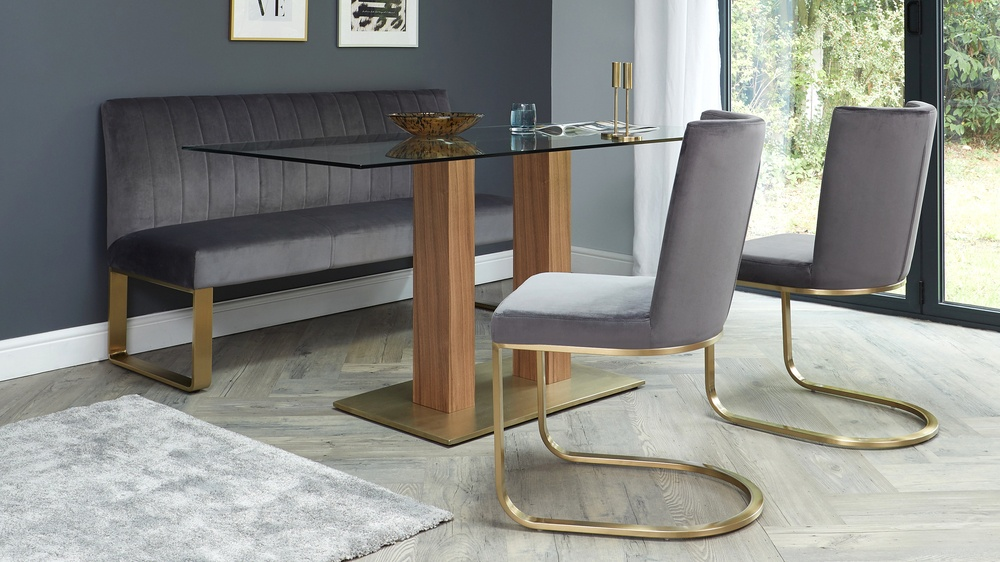 Form cantilever dining chairs