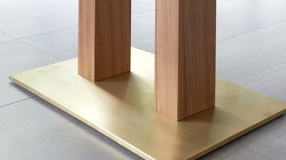 tables with brass foot
