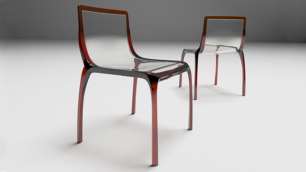 E Contemporary Plastic Dining Chairs