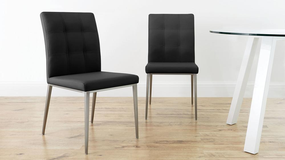 Black Quilted Dining Chairs