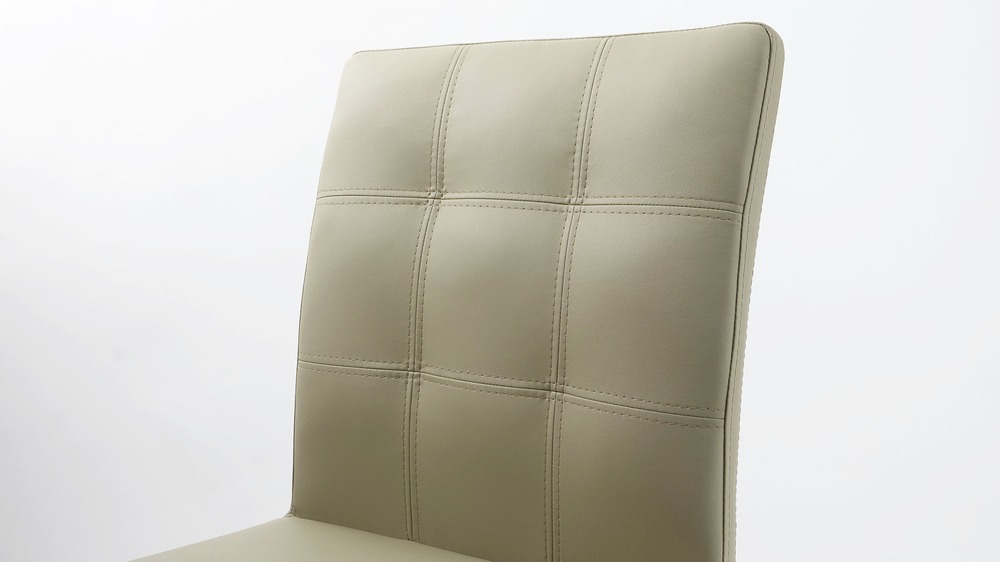 Contemporary Grey Quilted Dining Chairs