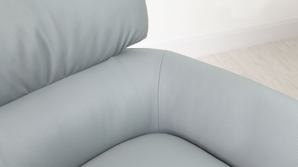 Modern Grey Leather Arm Chair