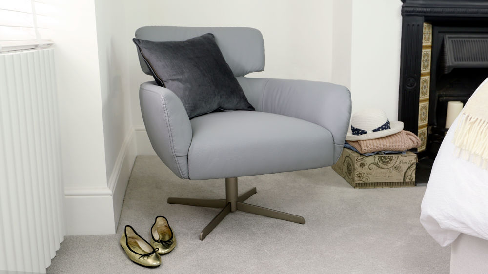 Light Grey Rotating Chair