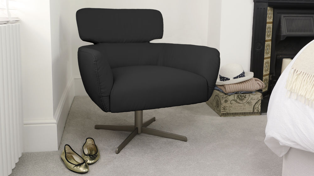 Low Black Arm Chair
