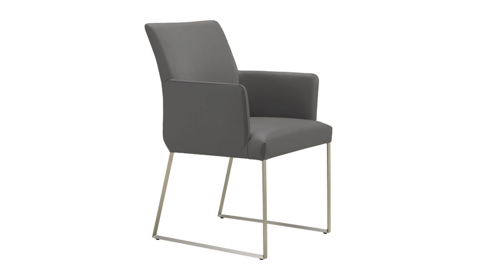 Contemporary Real Leather Dining Chair