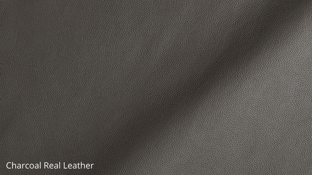 Modern Grey Real Leather