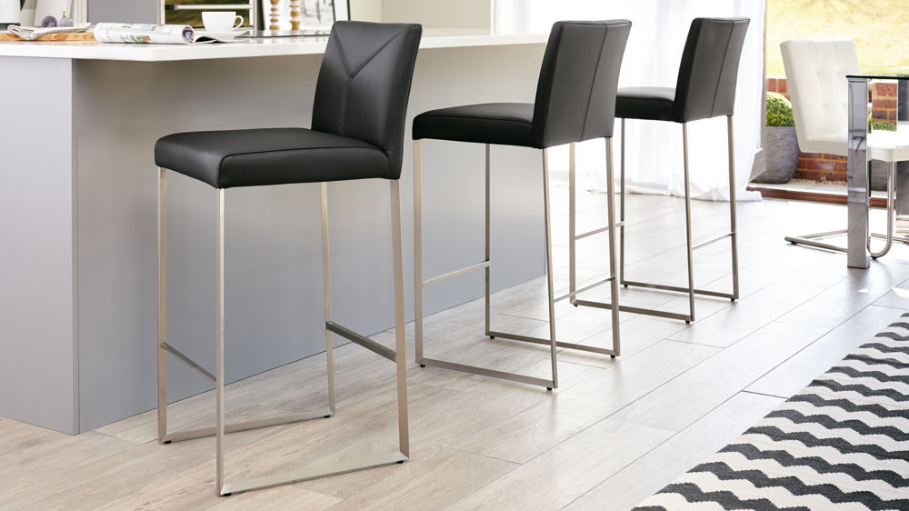 Black Leather Bar Stools