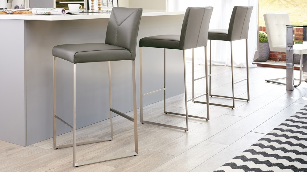 Monti charcoal grey barstool