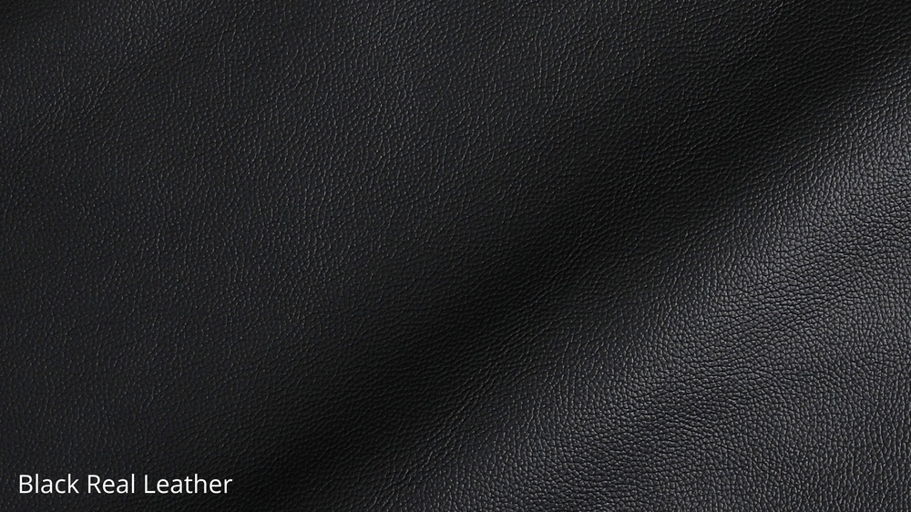 Black Real Leather