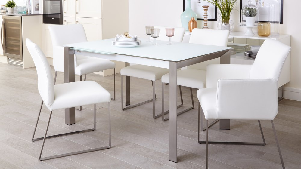 Glass Family Extending Dining Set