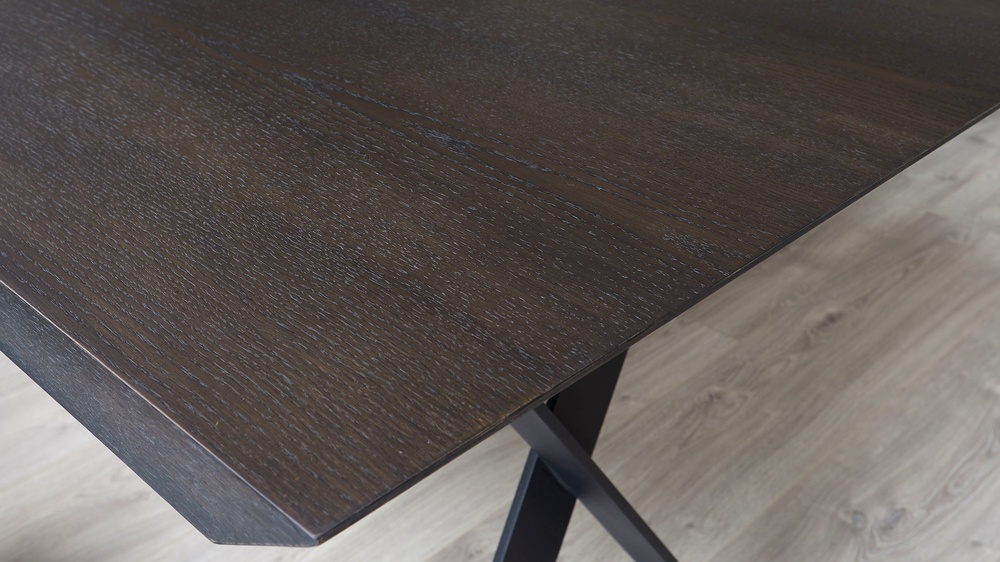 Brushed oak dining table
