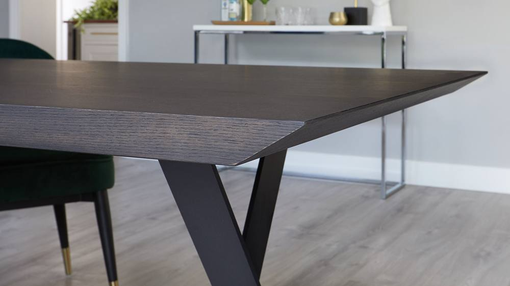 Brushed dark oak dining tables