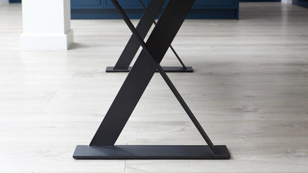 Modern trestle leg tables
