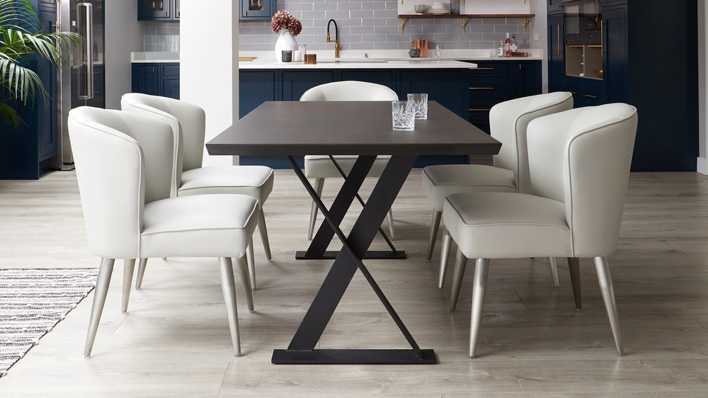Modern dining chair and table set