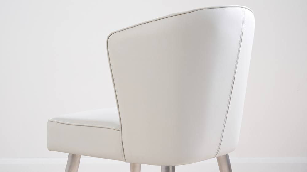 Stainless steel leg dining chairs