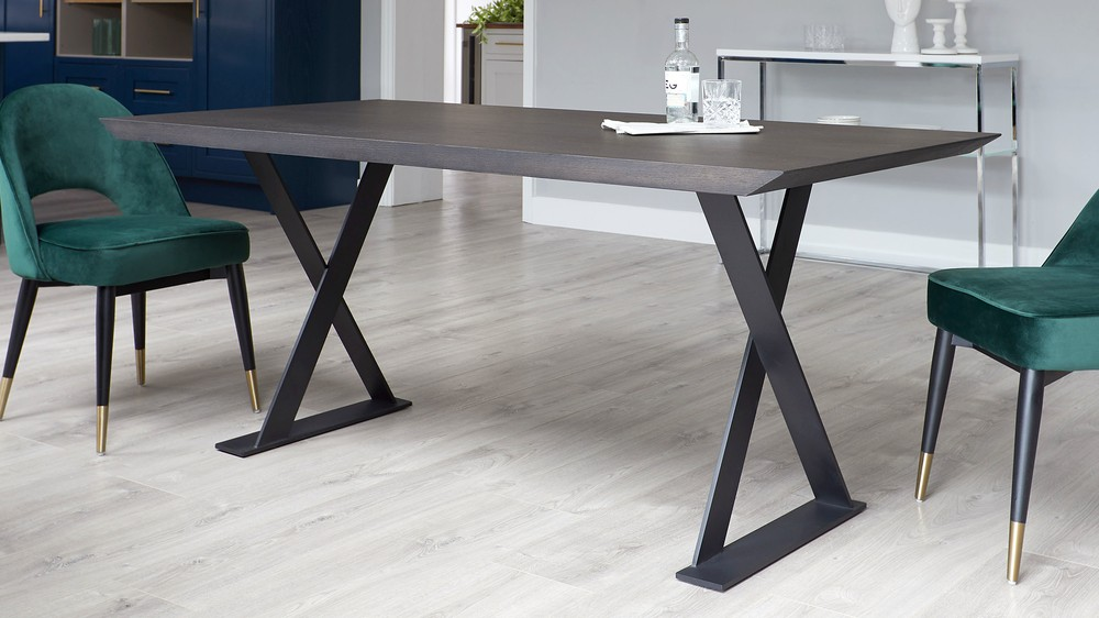 Dark washed oak dining tables