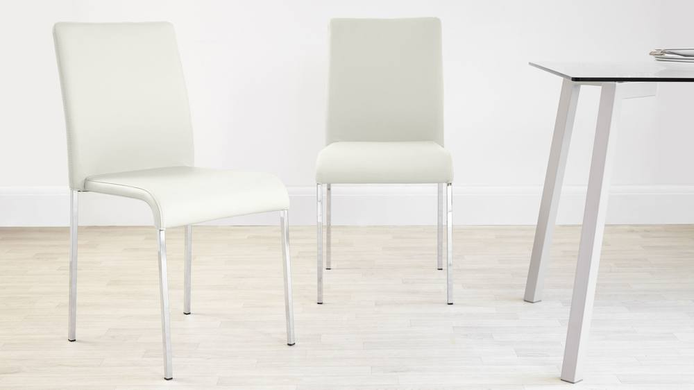 Comfortable White Stackable Dining Chairs