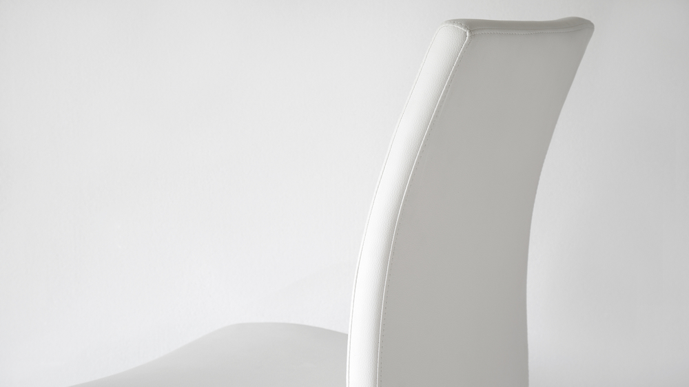 High Backed White Dining Chairs