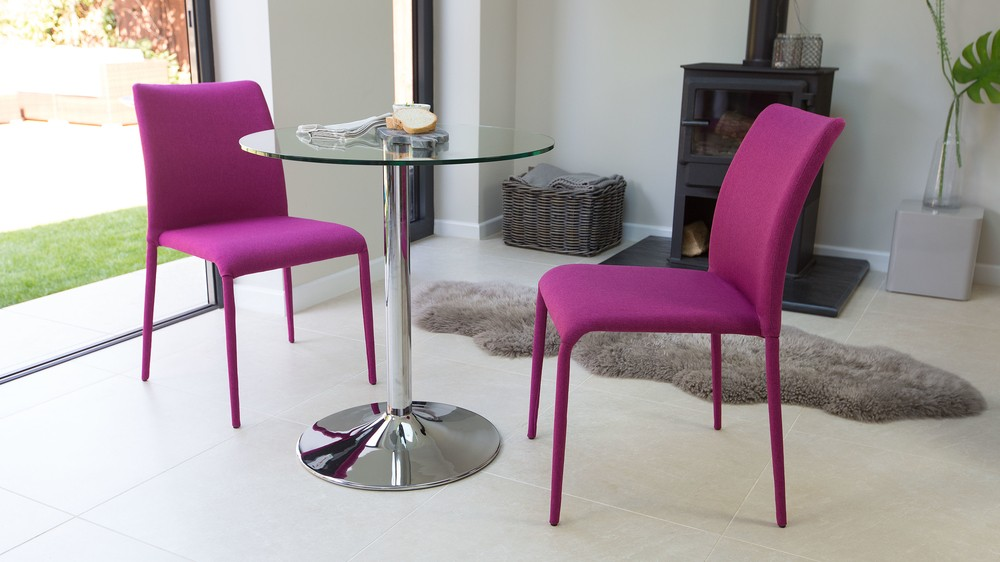Stylish 2 Seater Glass Dining Set