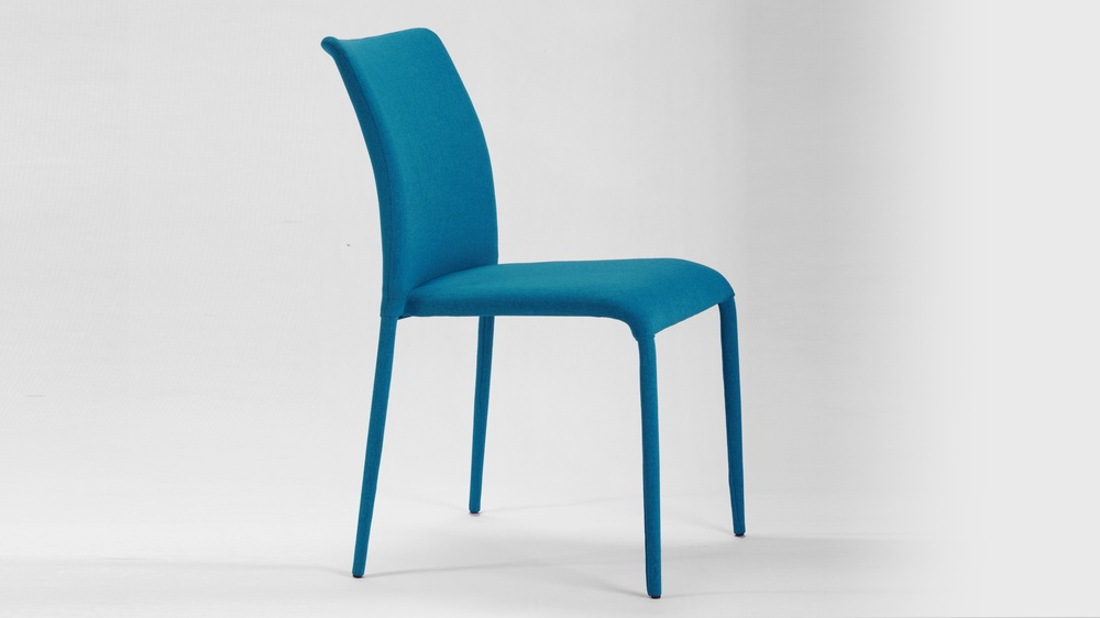 Teal Fabric Dining Chairs