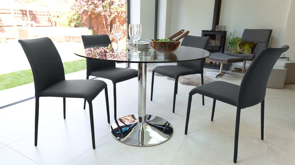 Modern Grey and Glass Dining Set