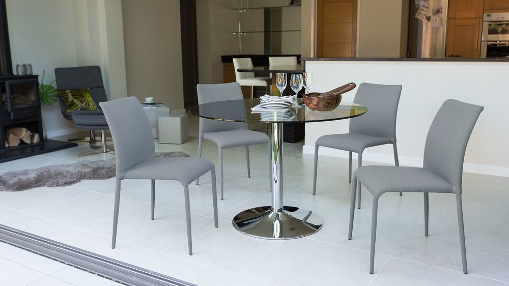 Cheap Grey 4 Seater Dining Set