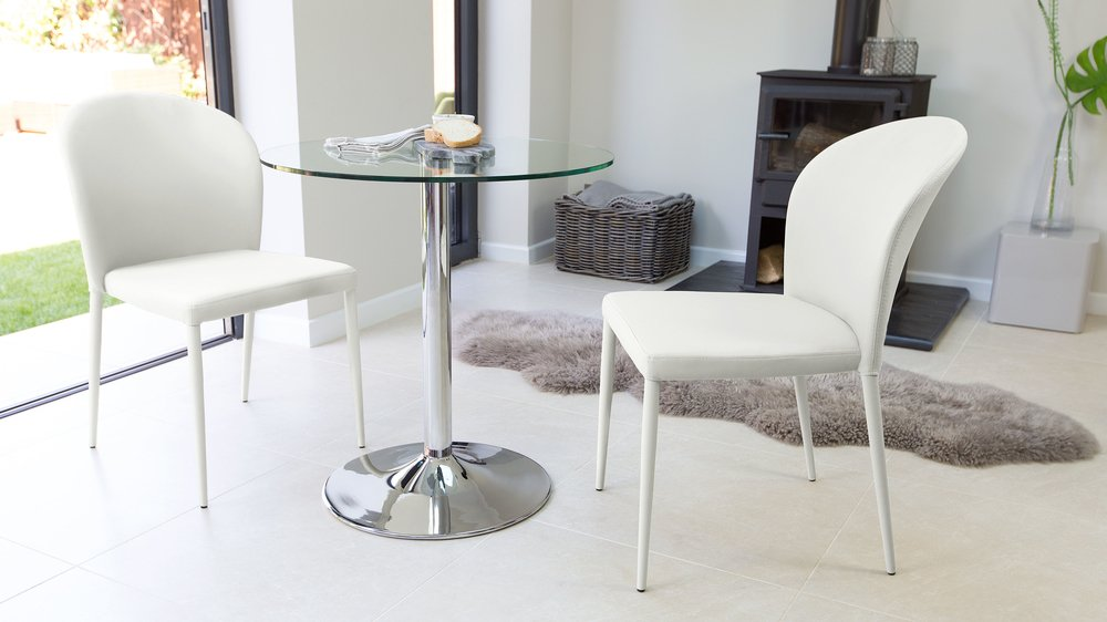 2 Seater Glass Table