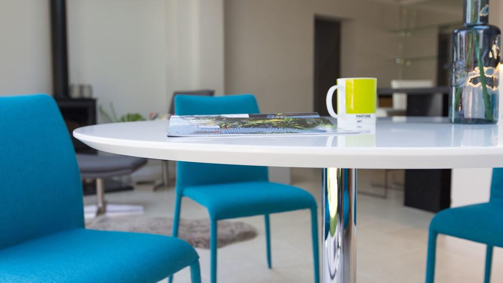 Modern Round White Gloss Dining Table