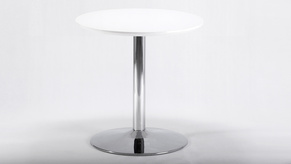 Modern Small Round White Gloss Dining Table
