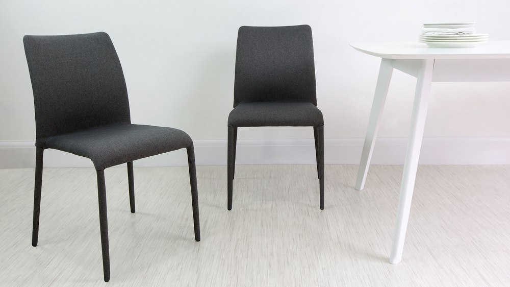 Dark Grey Dining Chairs