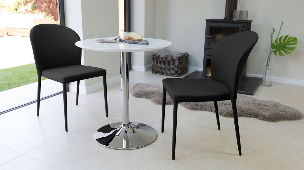 Black 2 Seater Dining Set UK