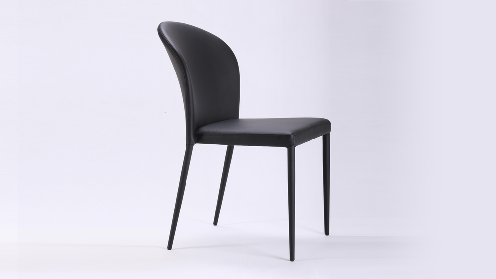 Black Curved Back Dining Chair