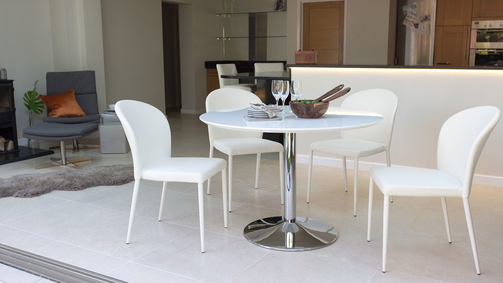 4 Seater White Gloss Dining Set UK