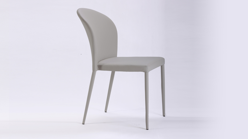 Faux Leather Stackable Dining Chair