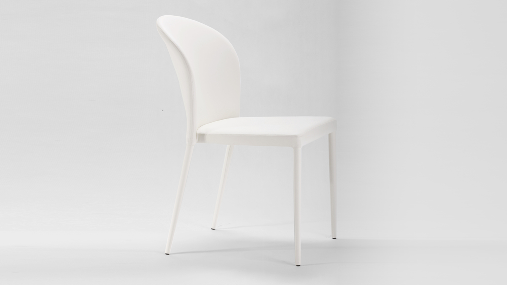 White High Back Dining Chair
