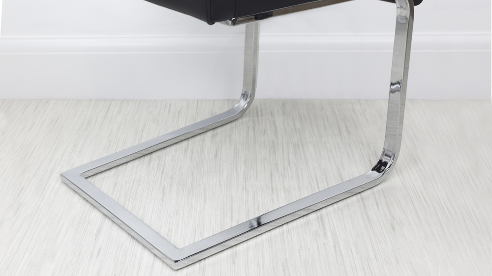 Chrome Cantilever Dining Chairs