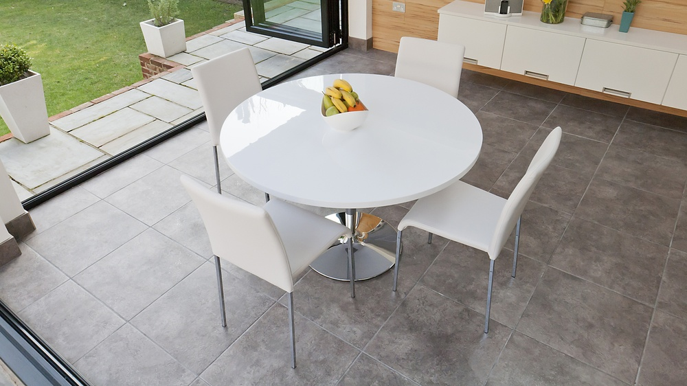 Modern White 4 Seater Dining Set