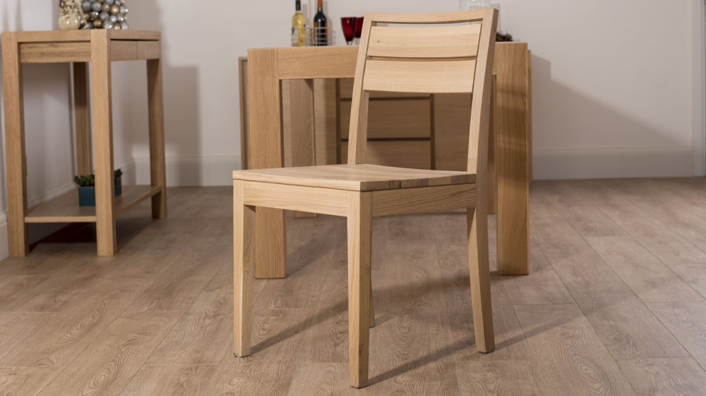 Awesome Solid Washed Oak Dining Chair