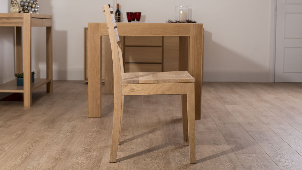 Beau Solid Washed Oak Dining Chair. Light Wooden Dining Chairs