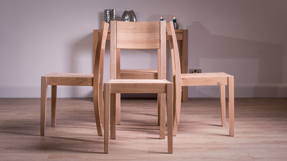 Solid white washed oak dining chair solid natural oak for Contemporary oak dining chairs