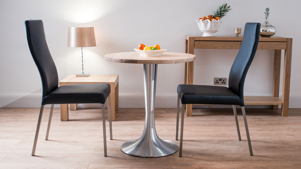 Small 2 Seater Table: Stylish Contemporary Washed Oak Two Seater Dining Set