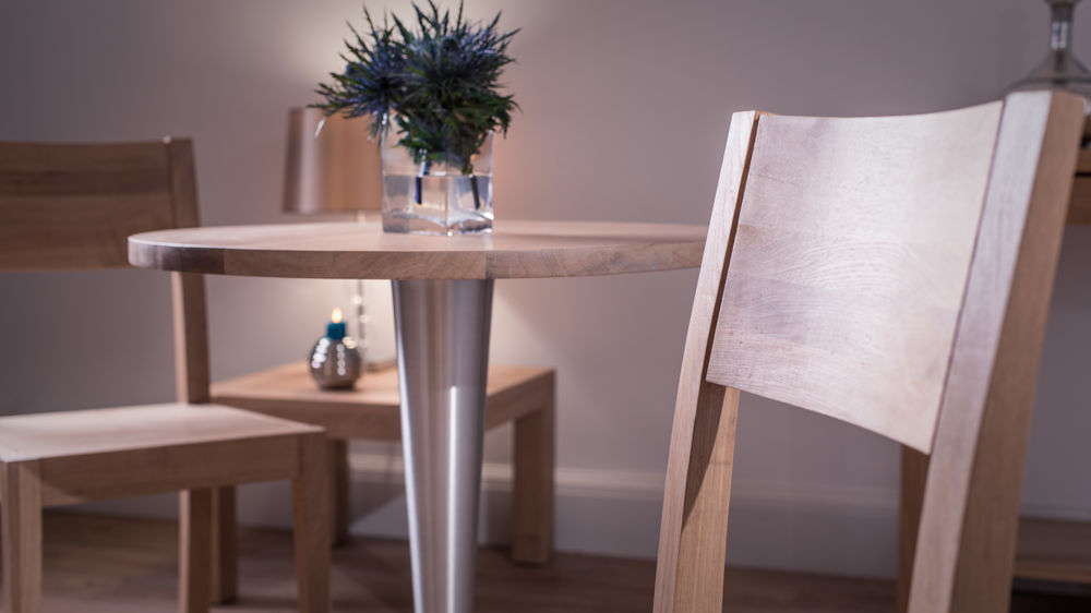 Modern Washed Oak Dining Set